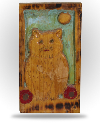 Untitled - Folk Art Kitty - Image 1